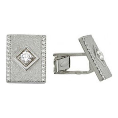 Серебряные запонки с фианитом арт. 3203048041 3203048041