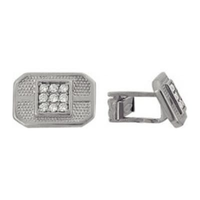 Серебряные запонки с фианитом арт. 3207048025 3207048025