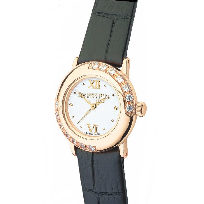 Женские часы из белого золота с фианитом арт. 151 151