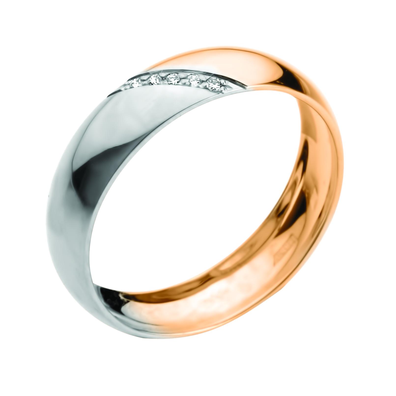 Обручальное кольцо из золота с бриллиантом арт. 905-110 905-110