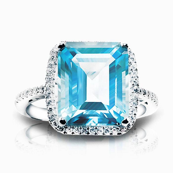 Серебряное кольцо Топаз и Фианит арт. 01705 01705