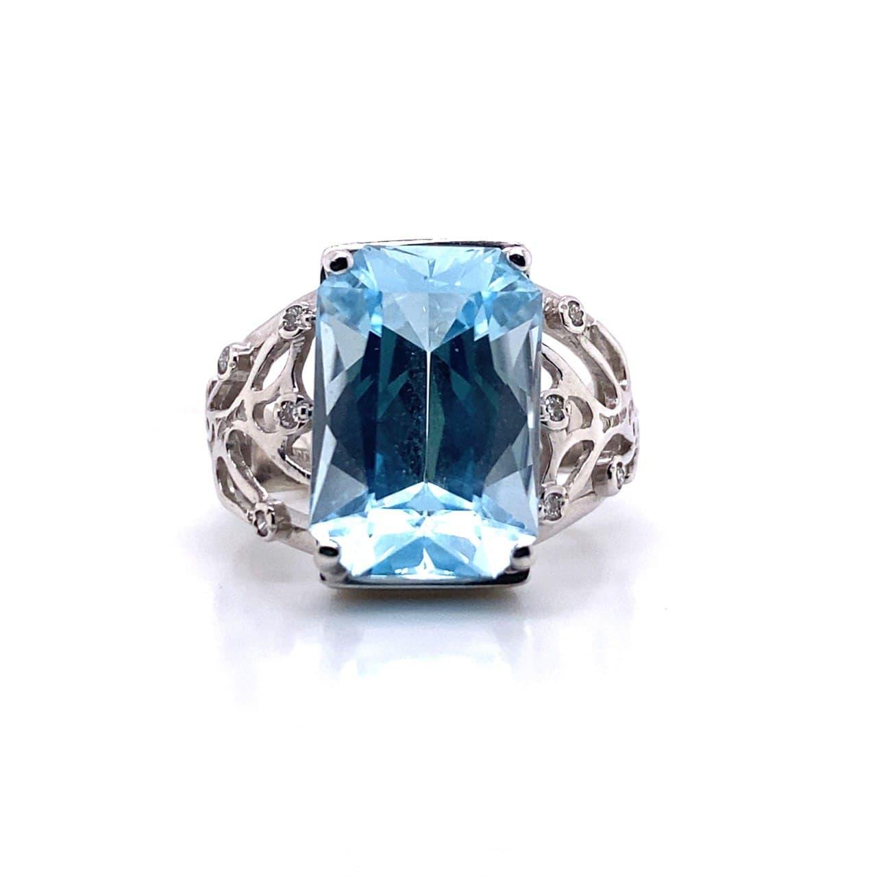 Кольцо из белого золота Бриллиант и Топаз арт. 81621765 81621765