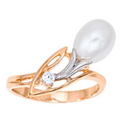 Золотое кольцо Жемчуг и Фианит арт. 1014591-11150 1014591-11150