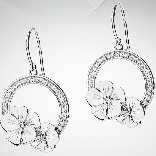 Серебряные серьги арт. csw249z csw249z