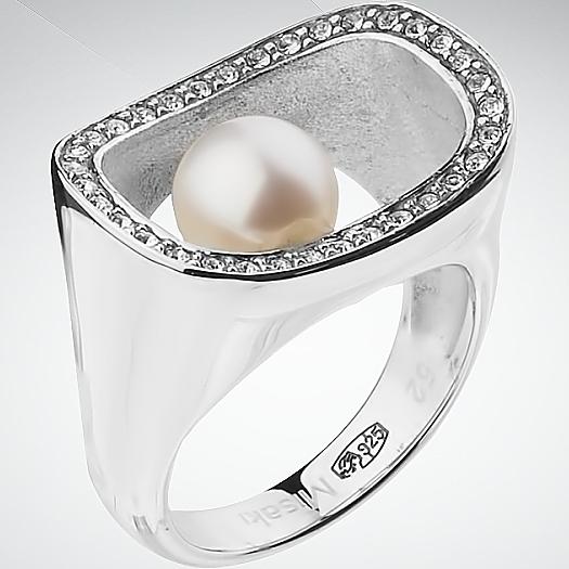 Серебряное кольцо Жемчуг арт. QCURDIVINE 50 QCURDIVINE 50