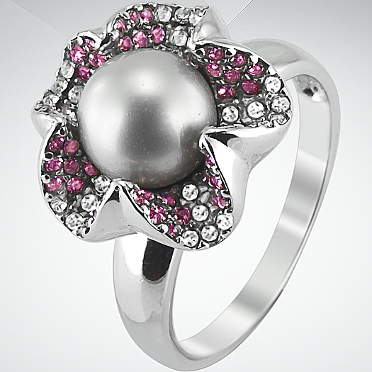 Серебряное кольцо Жемчуг арт. QCRRBLOSSOM 52 QCRRBLOSSOM 52