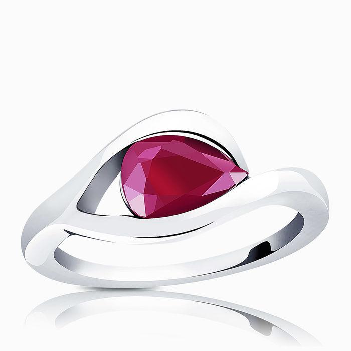 Серебряное кольцо Рубин арт. 00809 00809
