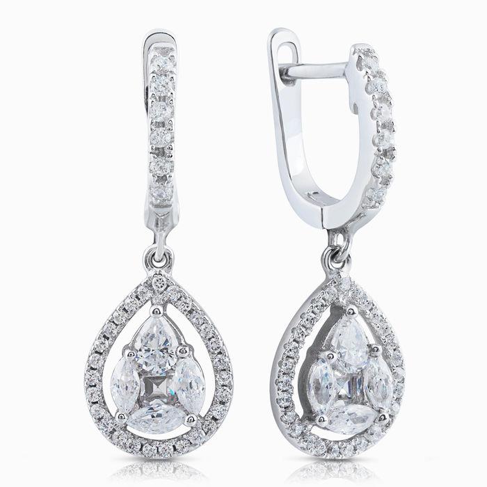 Серебряные серьги с цирконием арт. 02505 02505