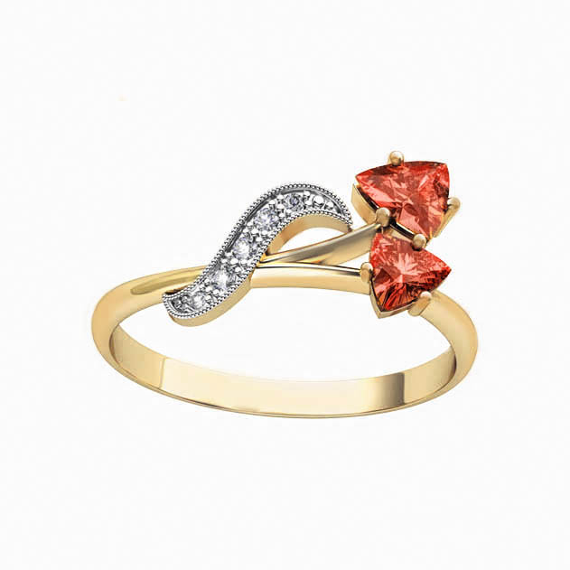 Золотое кольцо Гранат и Фианит арт. 11345Г 11345Г