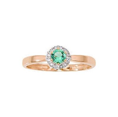Золотое кольцо Бриллиант и Изумруд арт. 1013431-11140-и 1013431-11140-и