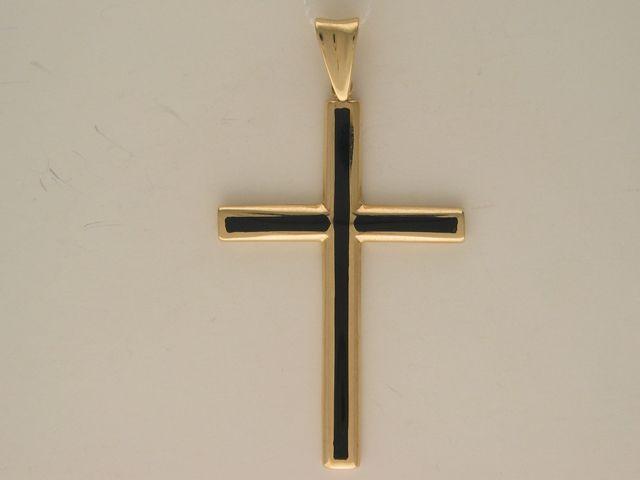 Золотой крест с ониксом арт. 01р430459 01р430459