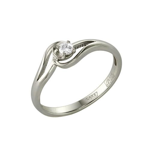 Кольцо из белого золота Бриллиант арт. 1-105-419/1 1-105-419/1