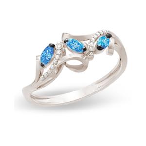 Золотое кольцо Бриллиант и Сапфир арт. 12449 12449