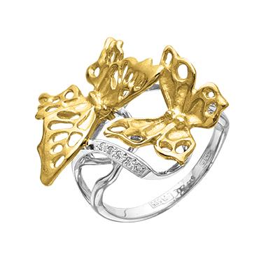 Кольцо из лимонного золота Бриллиант арт. к-24024 к-24024