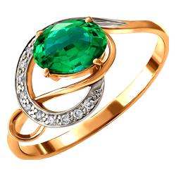 Золотое кольцо Бриллиант и Изумруд арт. 110389696 110389696