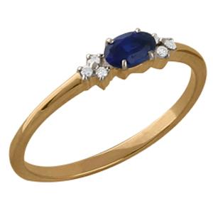 Золотое кольцо Бриллиант и Сапфир арт. 110386300 110386300