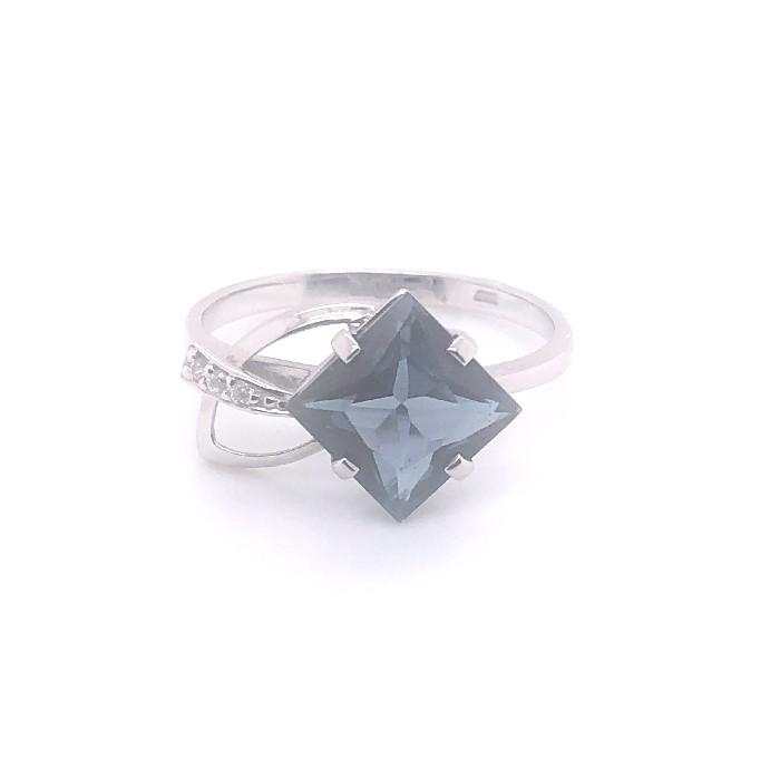 Кольцо из белого золота Топаз и Фианит арт. кл-366б-тл кл-366б-тл