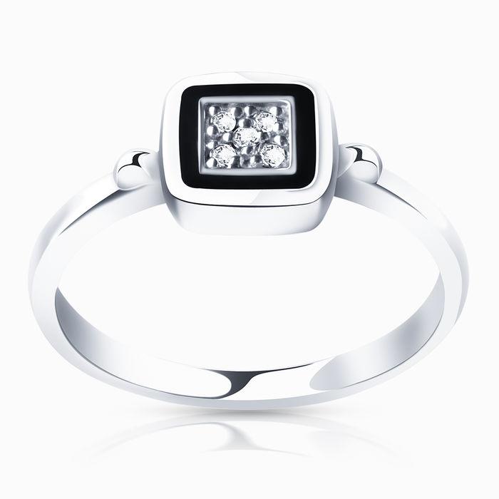 Серебряное кольцо Фианит и Эмаль арт. 00232 00232
