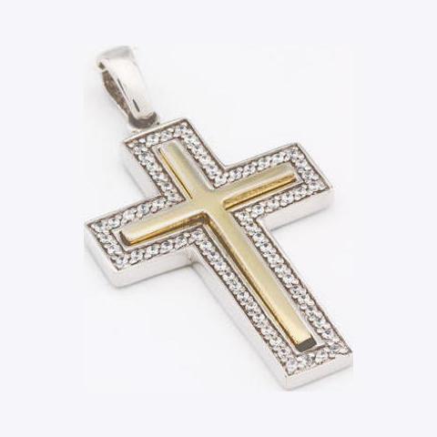 Серебряный крест с цирконием арт. 2авп027906 2авп027906