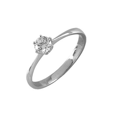 Помолвочное кольцо из белого золота с бриллиантом Бриллиант арт. 89786 89786
