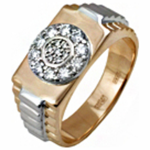 Золотая печатка с бриллиантом Бриллиант арт. 91621969 91621969