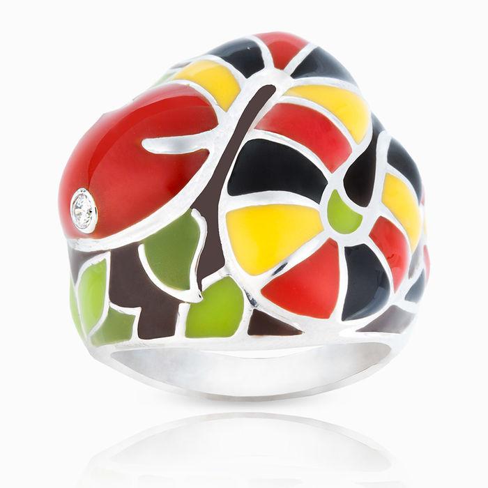 Серебряное кольцо Фианит и Эмаль арт. 03457 03457