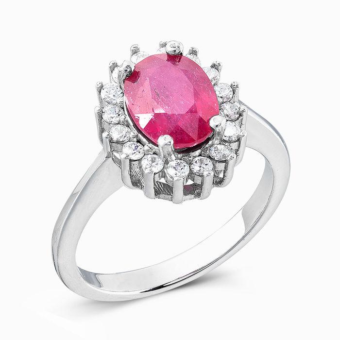 Серебряное кольцо Рубин и Фианит арт. 03521 03521