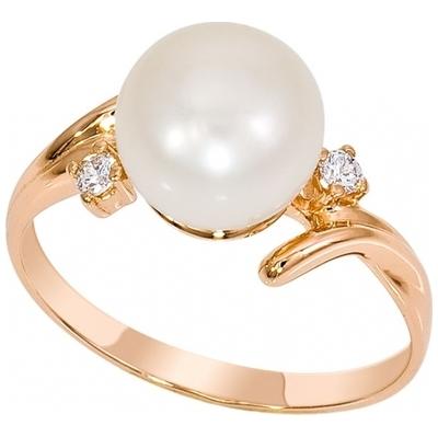 Золотое кольцо Жемчуг и Фианит арт. 1015891-11150 1015891-11150