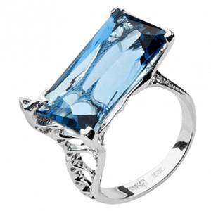 Кольцо из белого золота Бриллиант и Топаз арт. Небо0103 Небо0103