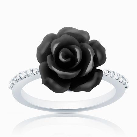 Серебряное кольцо Оникс и Фианит арт. 03104 03104