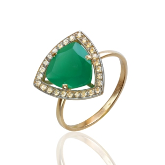 Золотое кольцо Фианит арт. к-0031 к-0031