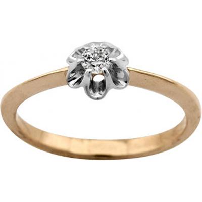 Помолвочное кольцо из золота с бриллиантом Бриллиант арт. 1006751-13240 1006751-13240