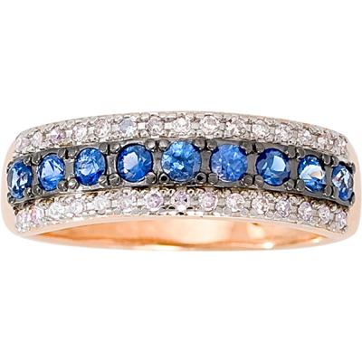 Золотое кольцо Бриллиант и Сапфир арт. 1013341-11140-с 1013341-11140-с