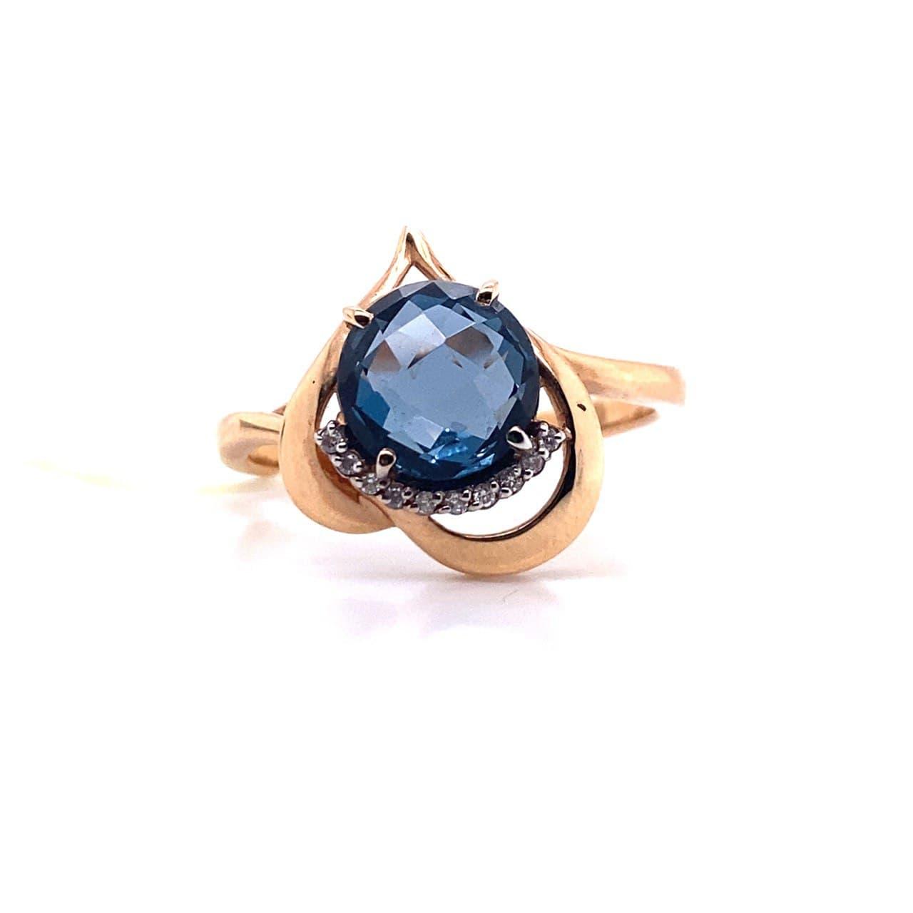 Золотое кольцо Бриллиант и Топаз арт. 1-105-663 1-105-663