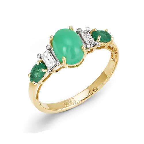 Золотое кольцо Бриллиант, Изумруд и Прочие арт. 1-105-822 1-105-822