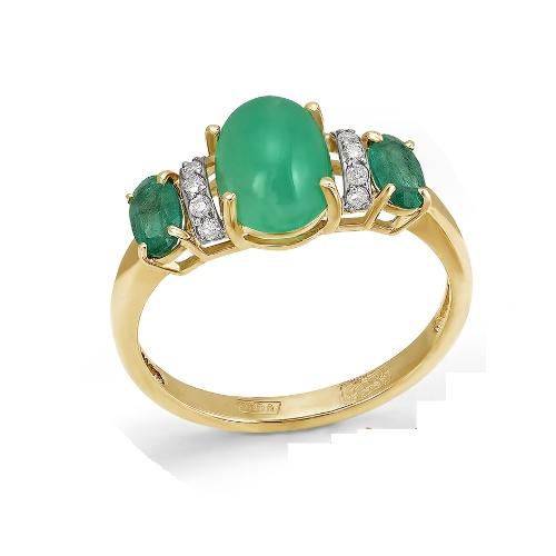 Золотое кольцо Бриллиант, Изумруд и Прочие арт. 1-105-797 1-105-797