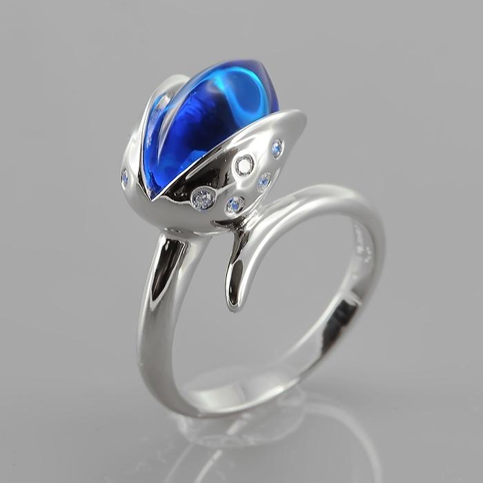 Серебряное кольцо Фианит арт. r906734-j r906734-j