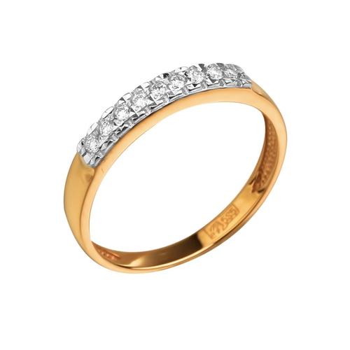 Обручальное кольцо из золота с бриллиантом арт. 808-110 808-110