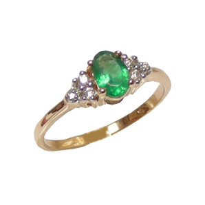 Золотое кольцо Бриллиант и Изумруд арт. к10042и к10042и
