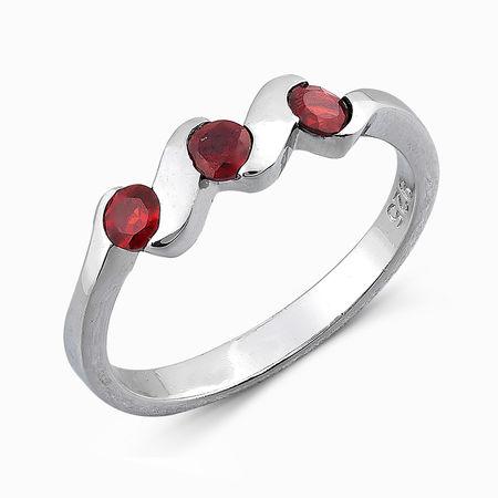 Серебряное кольцо Гранат арт. 04889 04889