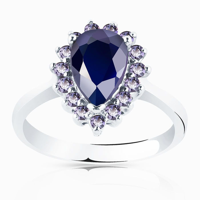 Серебряное кольцо Прочие и Сапфир арт. 00447 00447