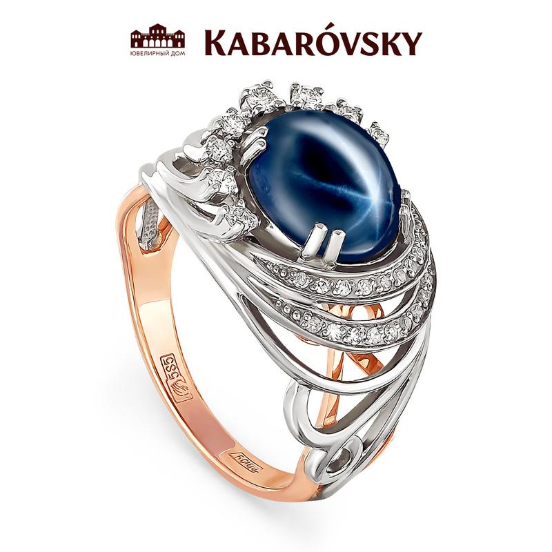 Золотое кольцо Бриллиант и Сапфир арт. 11-0375 11-0375