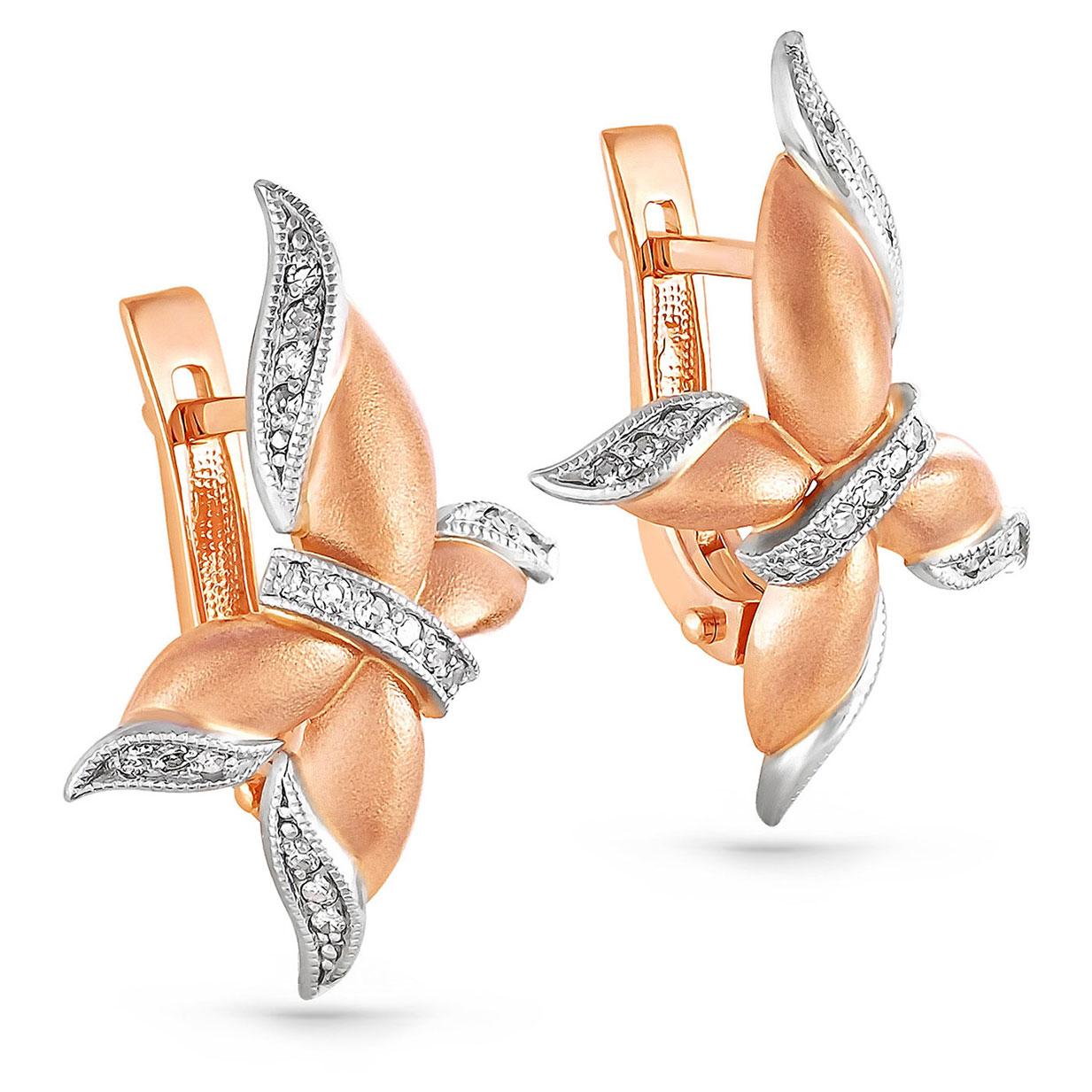 Золотые серьги с бриллиантом арт. 12-0380 12-0380