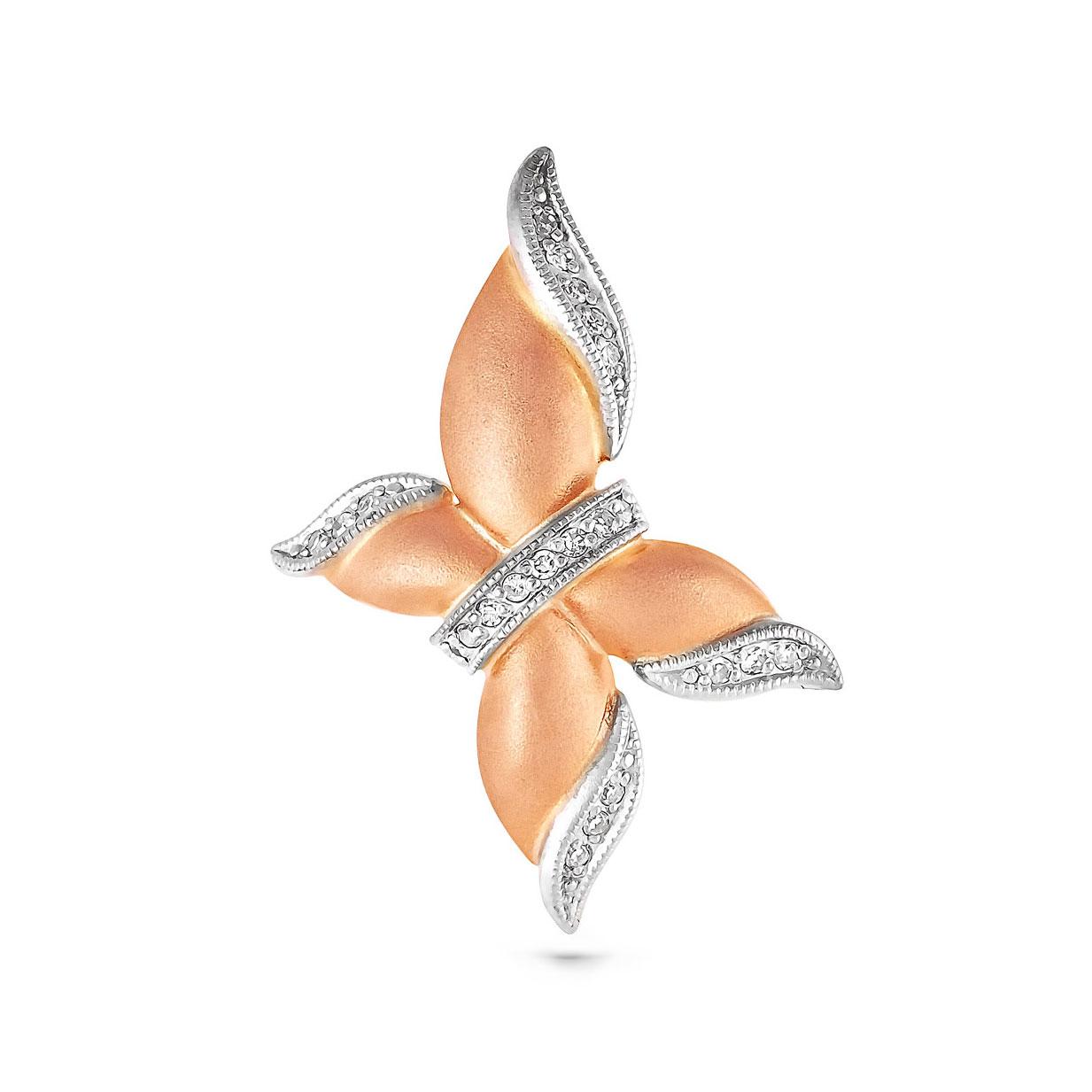 Золотой подвес с бриллиантом арт. 13-0380 13-0380