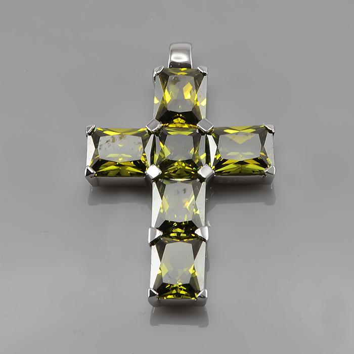 Серебряный крест с цирконием арт. p901785-a p901785-a