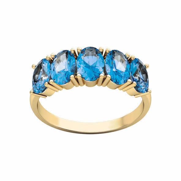 Золотое кольцо Топаз арт. 11456Тт 11456Тт