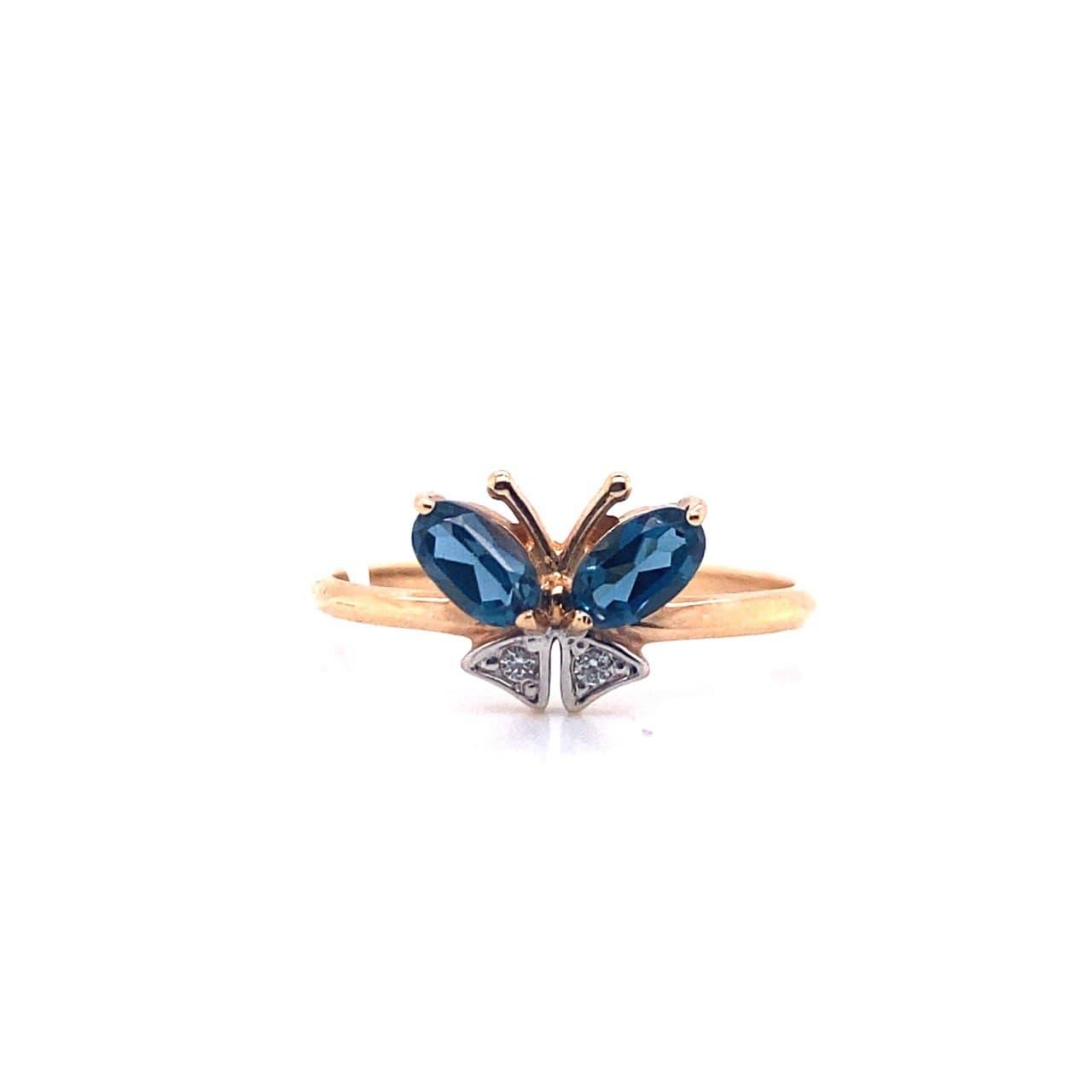 Золотое кольцо Топаз и Фианит арт. 11043Тл 11043Тл