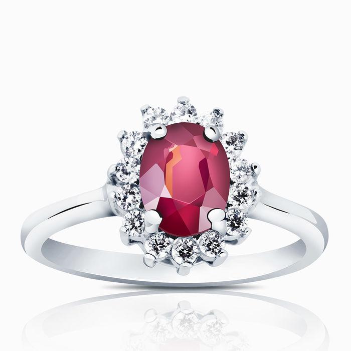 Серебряное кольцо Рубин и Фианит арт. 00429 00429