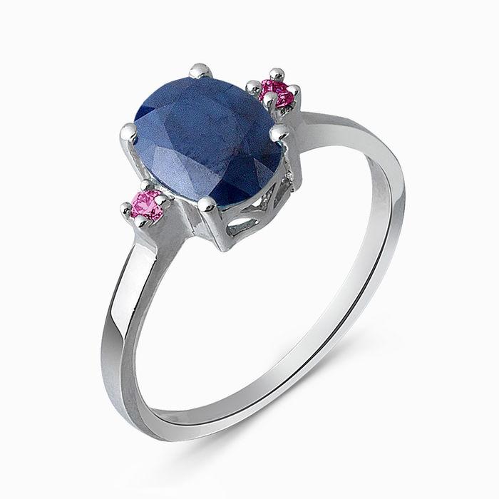 Серебряное кольцо Рубин и Сапфир арт. 05342 05342