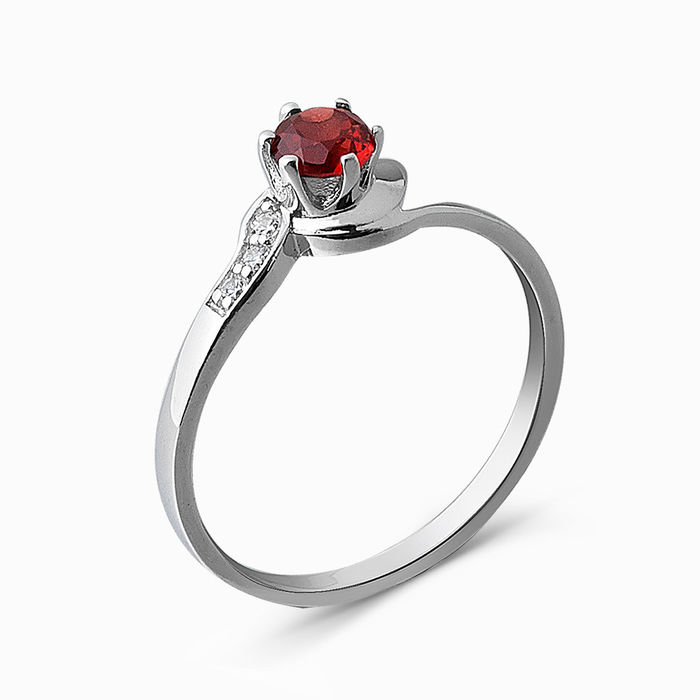 Серебряное кольцо Гранат и Фианит арт. 05356 05356